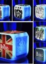 7 Farben Multifunktions Temperatur Bunte LED Digital Nette Wecker Cube im Dunkeln Kinder Rock Band Spielzeug Stil 1