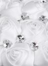 21cm Handmade Wedding Brooch Rhinestone Bridal Bouquet Satin Rose Flower with Artificial Pearls Decorated for Bride Wedding Supplies