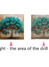 10 * 10 pulgadas / 25 * 25 cm DIY 5D Kit de Pintura Diamante Árbol de Color Resina Rhinestone Mosaico Bordado de punto de Cruz Artesanía Casa Decoración de La Pared