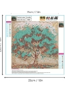 10 * 10 inches/25 * 25cm DIY 5D Diamond Painting Kit Color Tree Resin Rhinestone Mosaic Embroidery Cross Stitch Craft Home Wall Decor