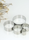 5pcs Round Stainless Steel Cookie Cutters Fondant Cutter Biscuit Cutters Sandwich Cutters Cookie Cutter Set