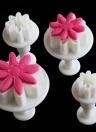 4 UNIDS Daisy Fondant Molde de La Torta Galletas Para Hornear Molde Crisantemo Cookies Galletas Plungers Pegar Herramienta de Corte de Decoración