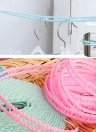 Vêtements de plein air-ligne en plastique anti-vent Type de clôture en nylon anti-dérapant vêtements de séchage corde