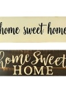 Home Sweet Home Script Design Large Rustic Wood Sign Distressed Solid Plaque Style 1