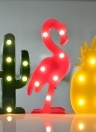 Cute LED Neon Lamp Living Room Bedroom Desktop Decorative Light Red Flamingos
