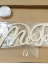 Wooden Chair Banner Sign Set for Rustic Wedding Engagement Decorations Party Supplies Style 1 I Do & Me Too