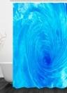 Wasser-Duschvorhang der Simulations-3D Seaview-natürliche Landschaft drapiert von der Badezimmer-Toilette mit Haken