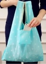 Portable Lady Tote Bag Large Enough Foldable Reusable Recycle Bag Washable Eco-Friendly Folding Shopping Bag Grocery Bags Storage Handbags 1#