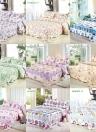 3pcs постельных набор 230 * 260 см фиолетовая роза цветок печатных шаблон полиэстер волокна лоскутное одеяло одеяло подушку случаях постельное белье домашний текстиль