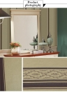 SENBIRD Vintage European Style Wallpaper Non-woven Paper Stripe and Vine Textured Wallpaper Classic Retro Room Decoration Background 0.53m*10m=5.3㎡