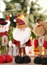 Festnight High-end Lovely Christmas Stuffed Toy Delicate Adorable Standing Santa Clause Reindeer Snowman Xmas Doll Christmas Decoration