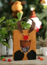 Festnight Lovely Reindeer Christmas Gift Candy Cookie Chocolate Bag Festival Decoration