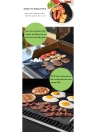 2PCS/Set 33*40cm Thick Reusable BBQ Grill Mat Sheet Non-stick Washable Barbecue Baking Cooking Liners BBQ Accessories 260℃ Resistant