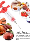 Premium 1oz Stainless Steel Barbecue Syringe Sauce Marinade Seasoning Injector Tool Turkey Syringe 30ml