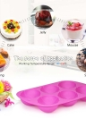 6 Cups Silicone Cake Mould Easter Eggs Shape Mold Tray Baking Tool Multifunction DIY Mould Soap Mould Pudding Jelly Mould