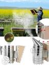 Outil des apiculteurs Nouveau fumeur de la ruche de l'abeille en acier inoxydable avec protection contre le Heat Shield Équipement pour l'apiculture