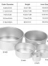 5pcs/set Aluminum Alloy Round Cake Mould Chiffon Cake Baking Pan Pudding Cheesecake Mold Set with Removable Bottom