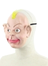 Realistic Latex Human Mask Scary Funny Male Man Masks with Elastic Strap for Halloween Costume Cosplay Fancy Dress