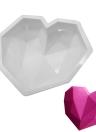 Square 3D Bubbles Silicone Cloud / Diamond Love Heart Shaped Mousse Pastel Pastel DIY Craft Mold Biscuit Ferramenta de cozimento para Fondant Jelly Brownie Chocolates Sobremesa Decoração Mould antiaderente