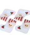 Los bolsos de la cuchara del cuchillo de la horquilla de los tenedores de la cuchillería de la Navidad de Papá Noel 4pcs / set empaquetan los ornamentos determinados de la decoración de la Navidad