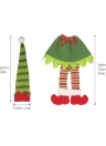 Elf Cloth Style Christmas Wine Bottle Cover Champagne Wrap Hat Clothes Christmas Party Decoration Ornaments
