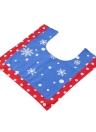 3pcs / set Decorazioni di bagno del bagno di Natale + coperchio della copertura del contenitore della copertura del coperchio del tessuto +