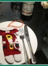 3 Наборы рождественских костюмов для Санта-Клауса Штаны для брюк Стиль Столовые приборы Держатели для вилочных ножей Сумки для ложек Почекты Комплект для рождественских декоров