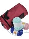 Práctica bolsa de almacenamiento de tejer ganchos de ganchillo portátiles hilo hilado funda de cremallera herramientas de tejer organizador de bricolaje artesanías de tela kit de costura bolsas