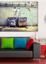 60 * 80 см HD Печатный Безрамный Scrawl Kids Стиль Холст Живопись Wall Art Pictures Decor для дома Гостиная Спальня