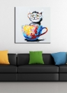 60 * 60 cm HD Stampato Frameless Cat Canvas Painting Wall Art Pictures Decor per la casa Soggiorno camera da letto