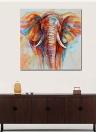 60 * 60cm HD Printed Frameless Elephant Head Canvas Pintura Wall Art Pictures Decoração para Casa Sala Quarto Quarto