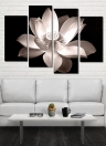 HD Printed 4-Panel Unframed Lotus Pattern Canvas Painting Wall Art Modular Pictures Decor for Home Living Room Bedroom