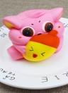 Exquisite Fun Soft Cat Desenhos animados Squishy Slow Rising Squeeze Toy Phone Straps Ballchains Simulação Kawaii Squishies Creme Perfumado Fidget Brinquedos para crianças e adultos Gato com peixe