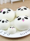 Exquisite Fun Soft Panda Cartoon Squishy Slow Rising Squeeze Toy Phone Straps Ballchains Simulation Kawaii Squishies Cream Scented Fidget Toys for Kids and Adults Random Style φ4cm