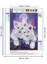 8 * 10 inches/20 * 25cm DIY 5D Diamond Painting Kit Tiger Resin Rhinestone Mosaic Embroidery Cross Stitch Craft Home Wall Decor