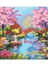Frameless DIY Digital Oil Painting 16 * 20'' Spring Scenery Hand-Painted Cotton Canvas Paint By Number Kit Home Office Wall Art Paintings Decor