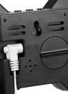 8-Shape Grand Digital LED Thermomètre Réveil USB 12H / 24H Affichage Bleu / Blanc / Rouge Lumière Manuel / Automatique LED Luminance Réglable Snooze Fonction Mur Bureau Alarme