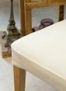 Confezione da 2 copri sedili per sedia da pranzo elasticizzati in elastan Coprisedili coprisedili elastici sfoderabili lavabili per sedie da cerimonia - Nero