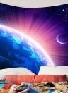 Galaxy starry star terra parede de suspensão e cobertor fundo tecido multiuso praia hippie do vintage e yoga towel