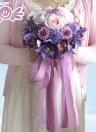 Hot Sale Wedding Bouquet Purple Rose Romantic Artificial Wedding Bouquets for Bride