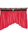 High-quality Christmas Door Window Curtains Decro Xmas Window Drape Panel Bunting Valance Christmas Decoration Supplies