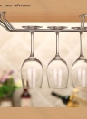 Good Quality Alloy Under Cabinet Stemware Holder Rack Solid Professional Red and White Wine Glass Rack