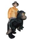 Anself Симпатичные взрослых Надувной Шимпанзе Костюм Костюм Blow Up Костюмированный фестиваль партии Надувной черный Орангутанг Outfit Комбинезон Прекрасные Надувные животных Костюм для мужчин женщин