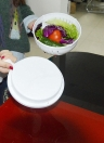 60s pratici veloce insalata Cutter Ciotola di frutta insalate di verdure fresche Maker Chopper ciotola bianca