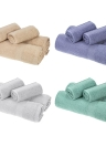Serviettes de bain 2pcs + 2pcs Serviettes de toilette Set Coton Soft Fast Absorbant Serviette de bain en tissu pour salle de bain Home Hotel Washing Cleaning Hand Hand Hair