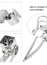 Stainless Steel Manual Rotary Cheese Grater Slicer Multi-Purpose Cheeses Carrots Cucumbers Cutter Shredder with 3 Interchanging Drums