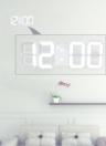 Reloj de pared digital multifuncional LED 12H / 24H Pantalla de tiempo con alarma y función de repetición Luminancia ajustable