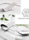 5pcs/set High-end Luxury Western Style Stainless Steel Flatware Set Good Quality Solid Dinnerware Utensils with Storage Box