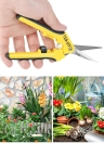 6.5''Gardening Hand Pruner Pruning Shear Functional Cutter with Straight Stainless Steel Blades