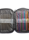 Home Use Travel 22Pcs Sewing Kit Accessories Cross Weave Stitch Needle Multifunction Portable Storage Box Multicolor Silver Crochet Tools Hooks Knitting Craft Case Bag Organizer